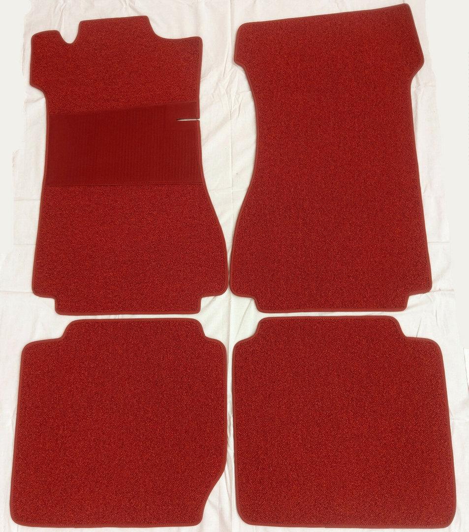 Schlinge Cremebeige Absatzschutz orig. 4-teilig Fußmatten Mercedes W115 //8 Lim